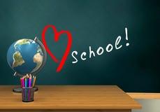 3d schoolboard Zdjęcia Royalty Free
