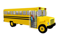 3d  schoolbus Royalty Free Stock Photos