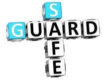 3D Schutz Safe Crossword Lizenzfreies Stockbild