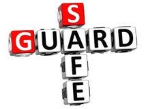 3D Schutz Safe Crossword stock abbildung