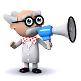 3d Scientist announcement Stock Photography