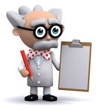 3d Scientist clipboard Royalty Free Stock Photography
