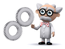 3d Scientist cogs Stock Images