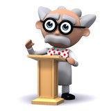 3d Scientist lectures Royalty Free Stock Image