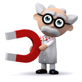 3d Scientist magnet Royalty Free Stock Photography