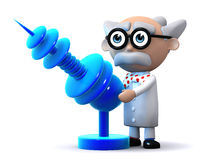 3d Scientist ray gun Royalty Free Stock Photos