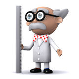 3d Scientist ruler Royalty Free Stock Photo