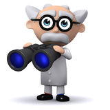 3d Scientist searches Royalty Free Stock Photo