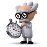 3d Scientist timer Royalty Free Stock Images