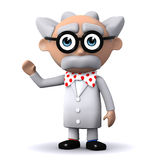 3d Scientist waves at you Royalty Free Stock Photos