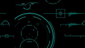 2d SCIFI HUD screen background, HUD futuristic blue user interface, dashboard display virtual reality technology screen, target vector illustration