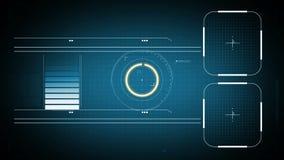 2d SCIFI HUD screen. vector illustration