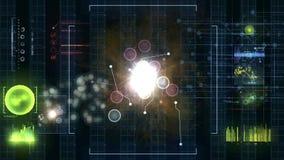 2d SCIFI HUD screen Stock Image