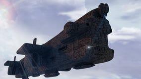 3d SCIFI UFO Zdjęcie Royalty Free