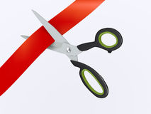 3d scissor opening ceremony Royalty Free Stock Photography