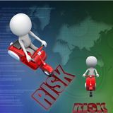 3d scooter jumps over risk illustration Stock Image