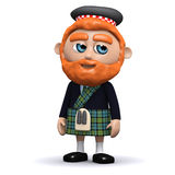 3d Scotsman Royalty Free Stock Photography