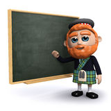 3d Scotsman teaches at the blackboard Stock Images