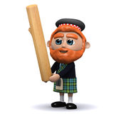 3d Scotsman tosses the caber Stock Images