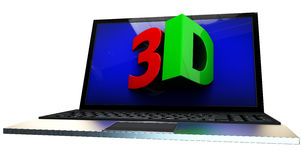 3d screen concept Stock Photography