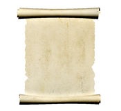 3d scroll of old parchment Stock Photography