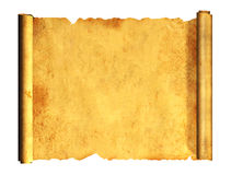 3d scroll of old parchment Royalty Free Stock Images