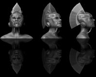 3D Sculpt Cyborg/Robot Stock Images