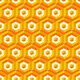 3d seamless abstract with hexagonal elements. Vector illustration Royalty Free Stock Photography