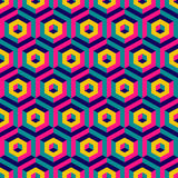 3d seamless abstract with hexagonal elements. Vector illustration. Can be used for wallpaper, web page background, book cover Stock Image