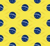 3D Seamless Brazil flag pattern Royalty Free Stock Photography