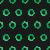 3d seamless hexagon background dark. Green Royalty Free Stock Image