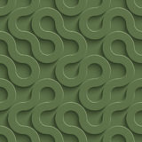 3D Seamless Pattern in Kale Color. Royalty Free Stock Photos