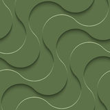 3D Seamless Pattern in Kale Color. Stock Photography