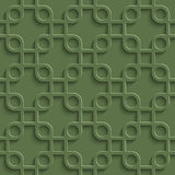 3D Seamless Pattern in Kale Color. Stock Image