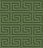 3D Seamless Pattern in Kale Color. Stock Photos