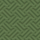 3D Seamless Pattern in Kale Color. Royalty Free Stock Photo