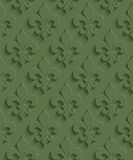 3D Seamless Pattern in Kale Color. Stock Photo
