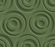 3D Seamless Pattern in Kale Color. Royalty Free Stock Images