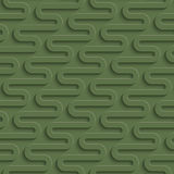 3D Seamless Pattern in Kale Color. Royalty Free Stock Image