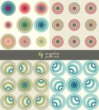 3d seamless pattern, paper cut geometric modern background. craft style illustration, Circles Clean Design Background - Vector royalty free illustration
