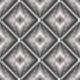 3d seamless pattern with surface rhombus. Modern geometric silver 3d rhombus seamless pattern. Abstract striped lattice backgroind. Vector surface endless Royalty Free Stock Image