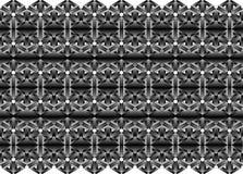 3d Seamless Web Geometric Pattern. Frame Border Wallpaper.   Royalty Free Stock Image