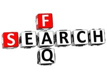 3D Search Faq Crossword Stock Images