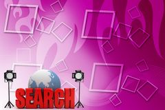 3d Search Illustration Royalty Free Stock Images