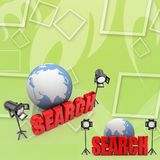 3d Search Illustration Stock Photography