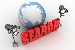 3d Search Illustration Stock Photos