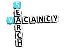 3D Search Vacancy Crossword Stock Photos
