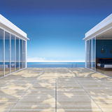 3d seaside house Stock Photo