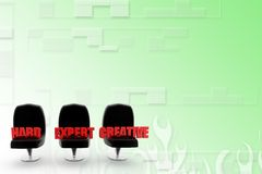 3d seat hard expert creative illustration Royalty Free Stock Photo