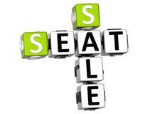 3D Seat sprzedaży Crossword Obraz Stock